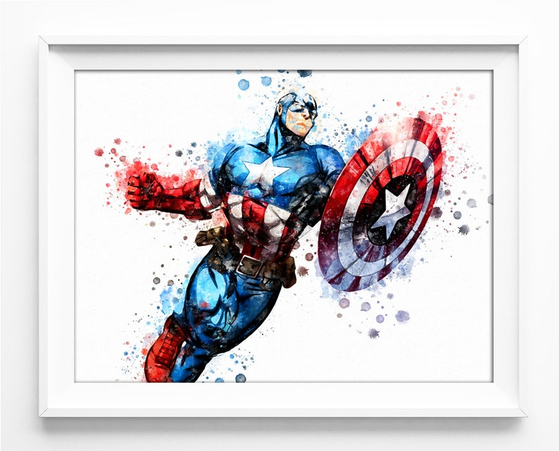 photograph regarding Captain America Printable identified as Nursery Captain The us Printable Captain The us Print Superhero Electronic Print Avengers Dc Speculate Poster Immediate Obtain n1105