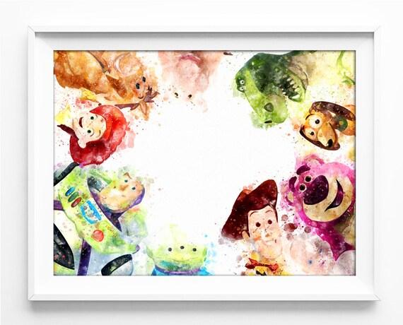 Watercolor Pixar Toy Story Printable Toy Story DIGITAL Print | Etsy