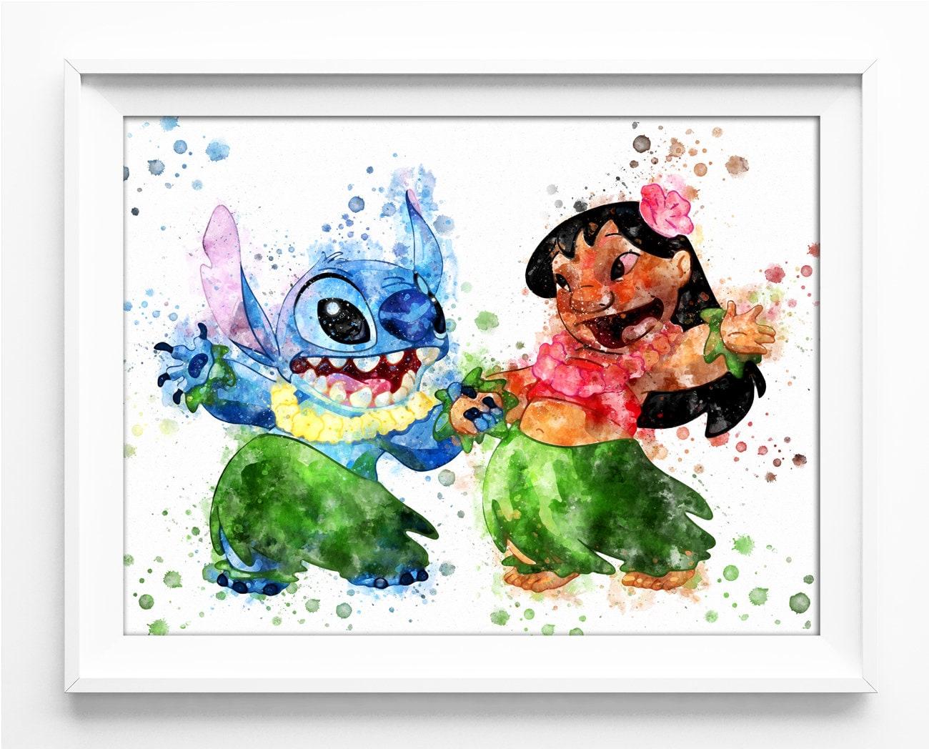 Lilo Print Stitch Print Lilo and Stitch Printable Lilo & | Etsy