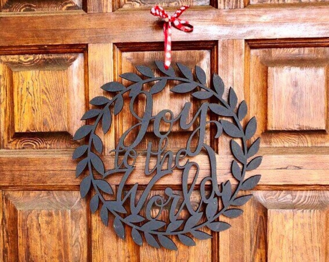 Joy to the World Wood Sign, Black, Christmas Sign