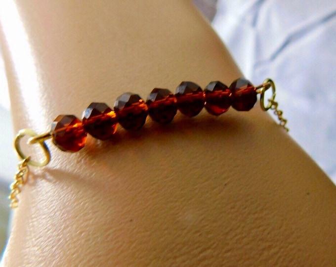 Dainty Topaz Bar Bracelet