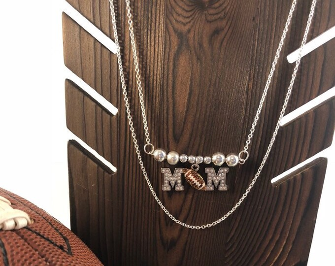 Football Mom Bling Necklace