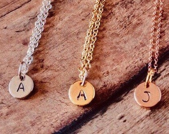 Initial Personalized Necklace, Bridesmaids Gift