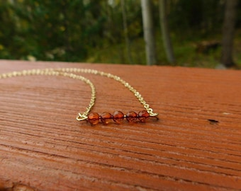 Baltic amber choker necklace