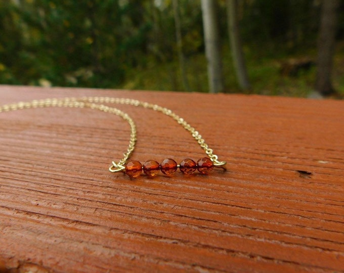 Baltic amber choker necklace