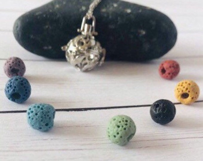 Diffuser Chakra Necklace Aromatherapy