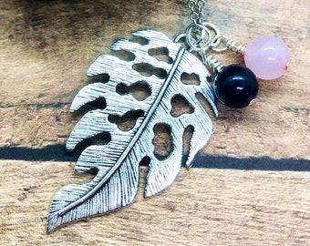 Leaf Necklace, Sterling Silver