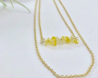 CITRINE Layering Necklace