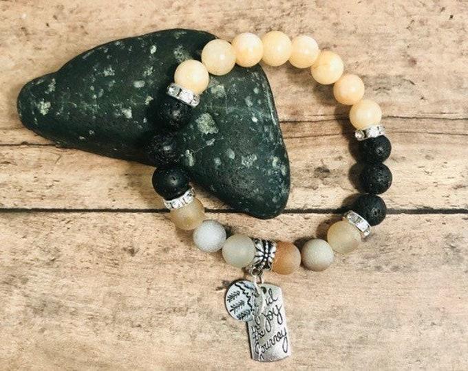 Gemstone Bracelet Agate & Jade Bracelet Crystal Stretch Bracelet