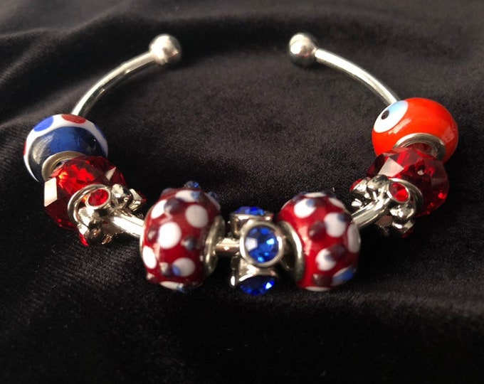 Red, White and Blue Bracelet