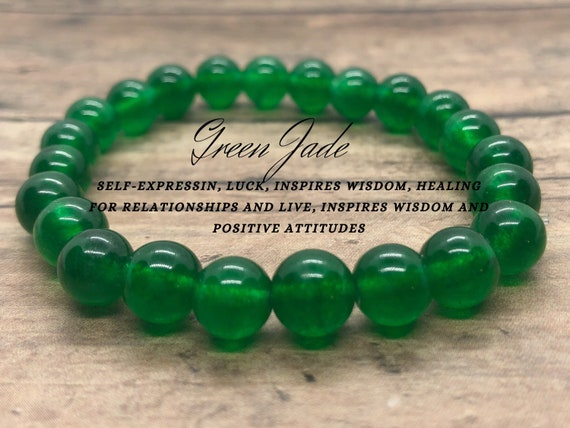 Green Jade Bracelet, Heart Chakra Bracelet, Crystal Healing Bracelet, Heart Chakra Yoga Bracelet, Gift for Best Friend, St Patricks Day