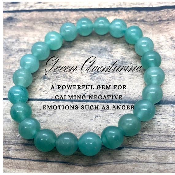 Green Aventurine Bracelet, Heart Chakra Bracelet, Crystal Healing Bracelet, Heart Chakra Yoga Bracelet, Gift for Best Friend, Gift for Her