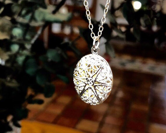 Diffuser Necklace, Aromatherapy Jewelry, Sterling Silver Chain, Essential Oils Silver Plated Oval Locket