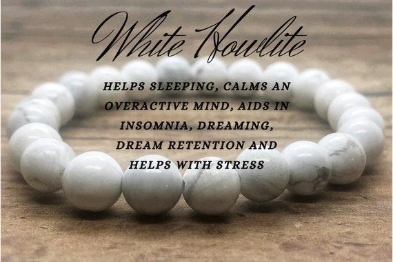 White Howlite Bracelet, Third Eye Chakra Bracelet, Crystal Balance Healing Bracelet, Yoga Meditation Bracelet