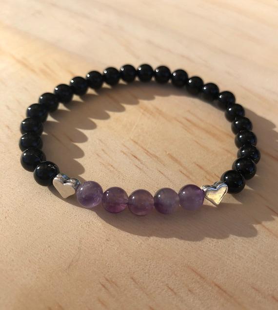Amethyst Bracelet & Black Onyx Yoga Bracelet