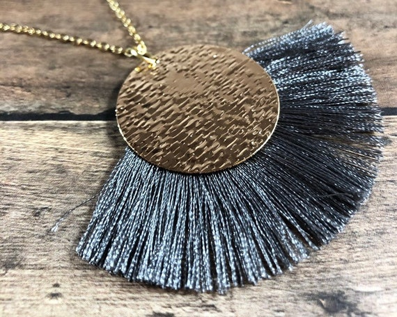 Long Layered Gold Necklace