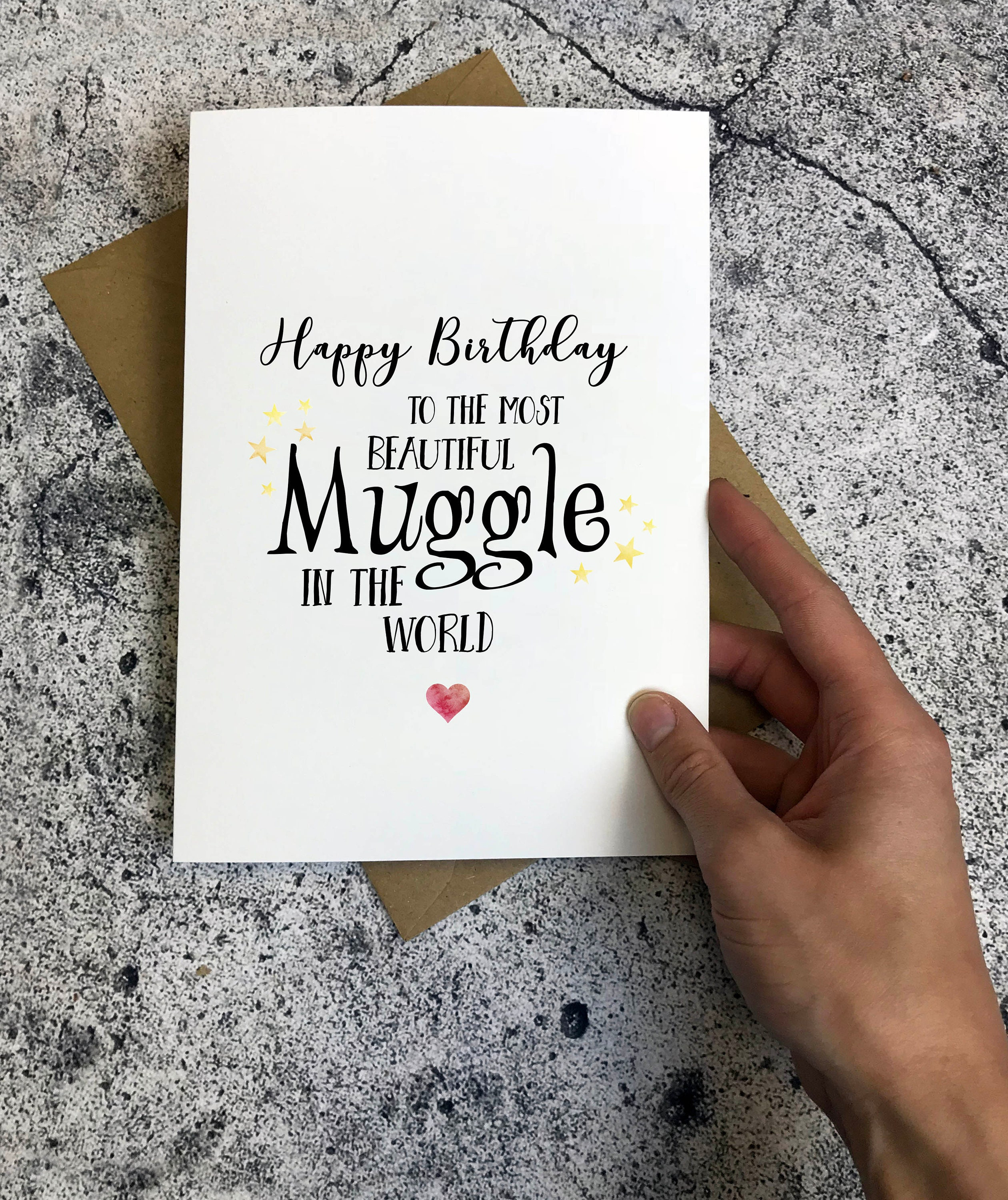 Harry Potter Inspired Birthday Card Happy To