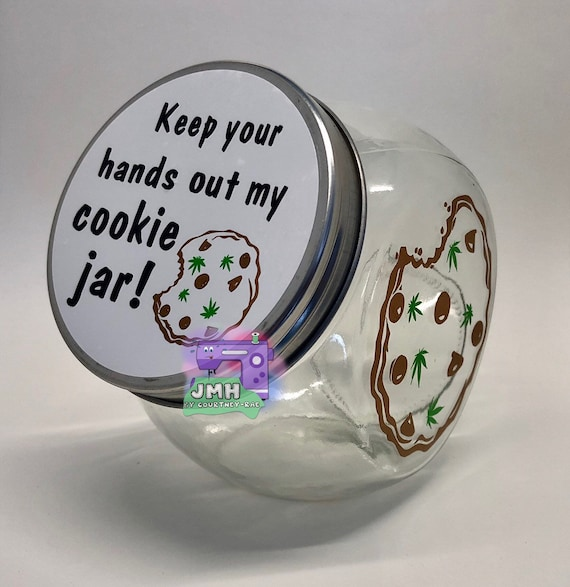 Keep Your Hands Out My Cookie Jar Mini Cookie Jar Stash Jar Etsy