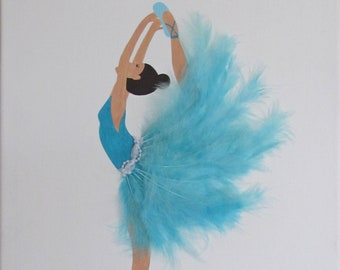 wall decor, kids room, table dancer blue