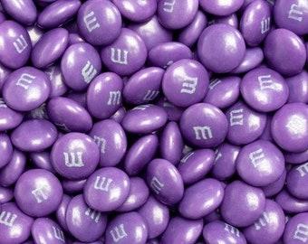 M&M Chocolate Candy - Dark Purple - 1LB Bag