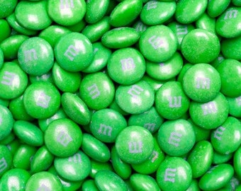 M&M Chocolate Candy - Green - 1LB Bag