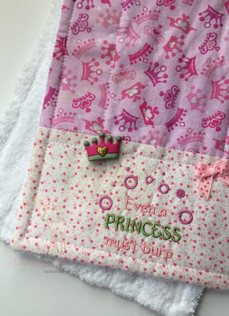 Baby Burp ClothPrincess Burp cloth