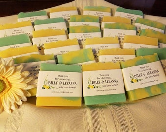 Wedding Favors,  Personalized, Handmade Soap Favors, wedding favors,  wedding party favors,  Custom Wedding Favors