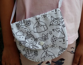 Bag color fabric for girl