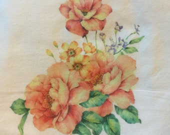 100 % Cotton Flour Sack Kitchen Towel| Mixed Flowers | Gifts Under 10 Dollars|Rustic