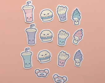 Pastel Fast Food Stickers