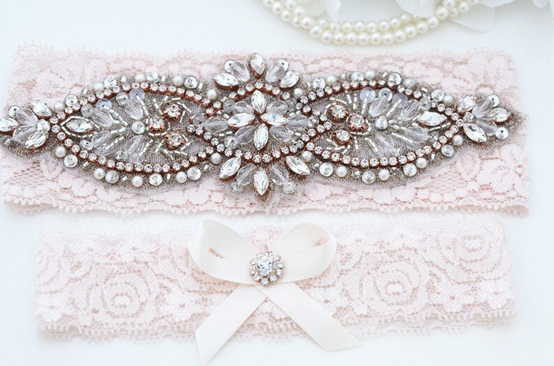 Wedding Garter Set Bridal Lace Garter Crystal Garter Set Wedding Stretch Lace Garter Set Bridal Garter Set Wedding Lace Garter