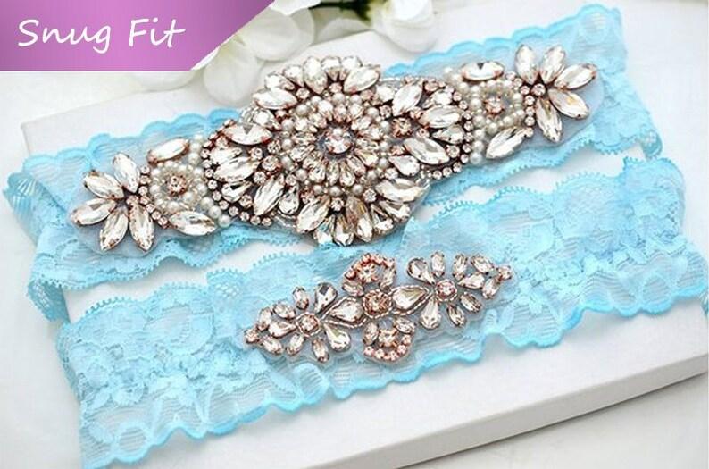 Snug Fit Wedding Lace Garter Set No Slip Bridal Garter Set Wedding Garter Set Crystal Garter Set Bridal Lace Garter Wedding Lace Garter