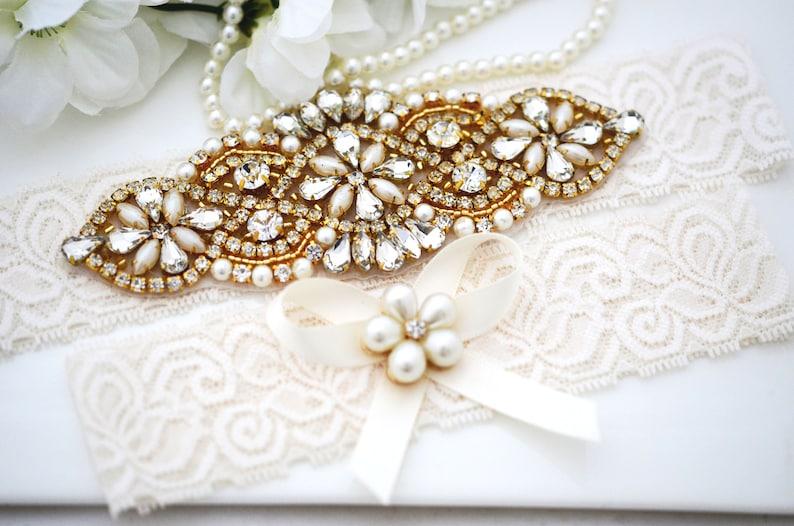 Bridal Lace Garter Crystal Garter Set Wedding Stretch Lace Garter Set Wedding Lace Garter Bridal Garter Set Wedding Garter Set