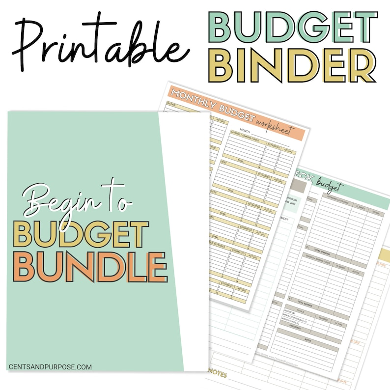 Monthly Budget Planner / Printable Budget Binder / Finance PDF image 0