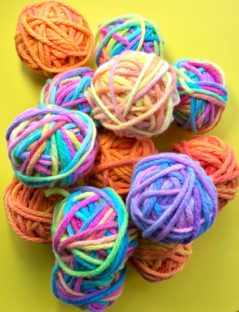 hand painted 20 ply wool ball one off size