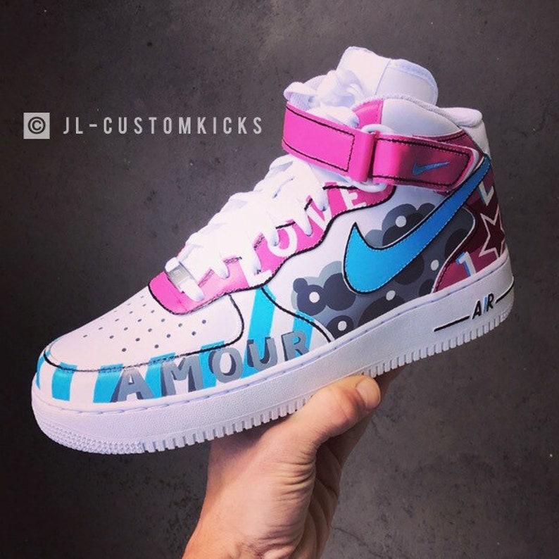 Full Custom | Nike Air Force 1 LOVE 2K19