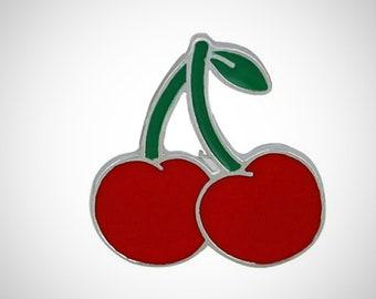 Retro Red Cherries Lapel Pin