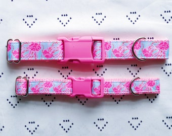 5595604ac792ac Lilly Pulitzer Jellies Be Jammin' Adjustable Dog Collar and Matching Leash  (X-Small, Small, Medium, Large)