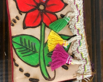 Coin Purse, hand painted by Mexican artisans!