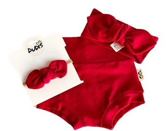 BabyToddler high-Waisted Bummy Short Baby Girl suspender Shorts Bummies and Knot top Sets Bummies for baby girls