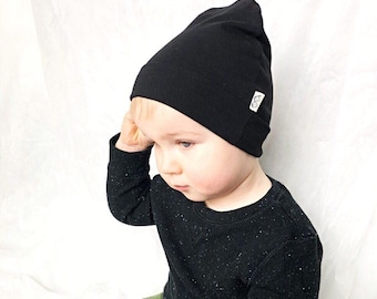 098c7f07bd5d1 U CHOOSE COLOR   Black Beanie   Kids Beanie   Toddler hat   Baby Boy Hat    Preemie Hat   Newborn Beanie   Unisex Beanie