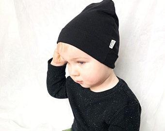 f5ceebd6840 U CHOOSE COLOR   Black Beanie   Kids Beanie   Toddler hat   Baby Boy Hat    Preemie Hat   Newborn Beanie   Unisex Beanie