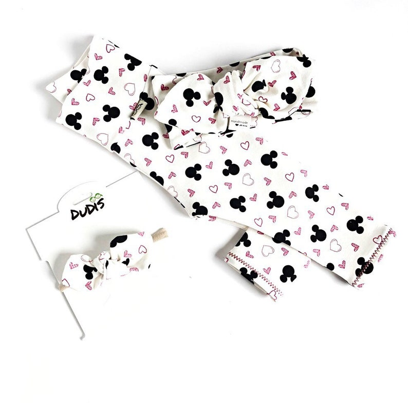 Toddler Newborn Baby Girl Leggings and Knot Headband  Newborn Girl Coming Home Outfit  Baby Girl Clothes  Preemie Baby