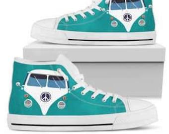 15896a4445d7 Hippie Van Canvas High Top Shoes