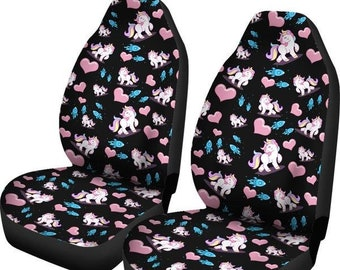 Unicorn Rockets Car Seat Covers And Floor Mats
