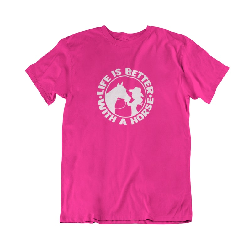 Horse T Shirt Life Is Better With A Horse Shirt Country Western Outback Riding Showing Horses Short Sleeve Summer Shirt Cowgirl Shirt