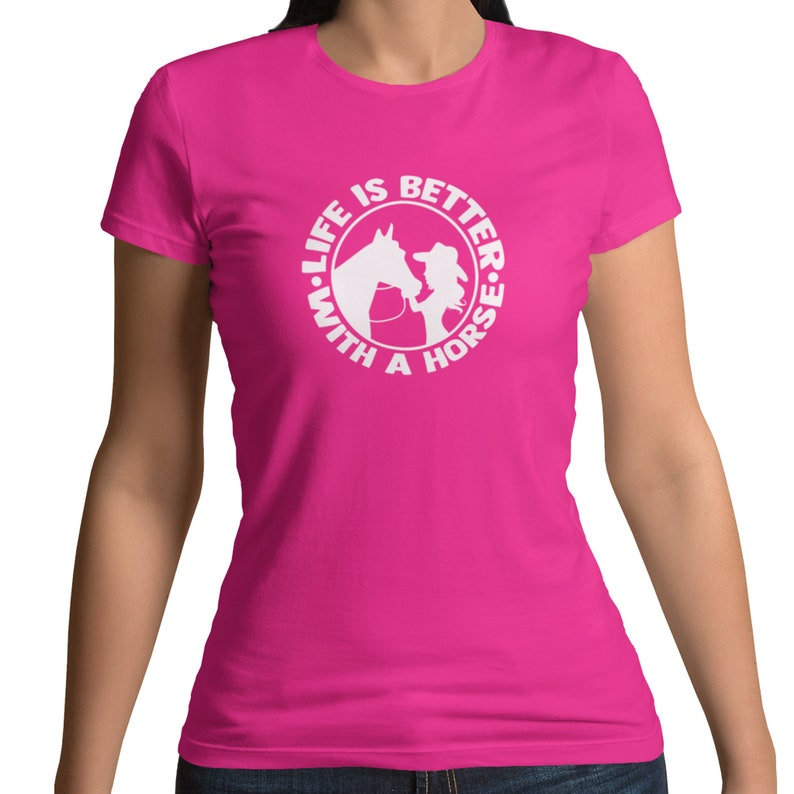 Country Western Outback Riding Showing Horses Short Sleeve Summer Shirt Horse T Shirt Cowgirl Shirt Life Is Better With A Horse Shirt