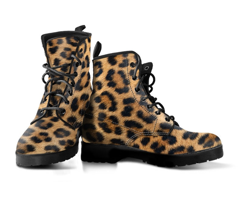 b0bd3ee7c9d Leopard Fur Animal Print Faux Leather Boots | Mens and Womens