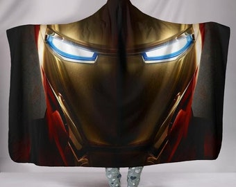 Iron Man Plush Wearable Hooded Blanket