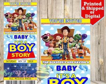Toy Story Baby Shower Invitations Etsy